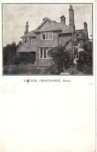 """Laycock, Crowthorne, Berks"""