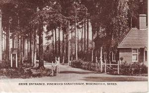 Drive Entrance, Pinewood Sanatorium, Wokingham, Berks